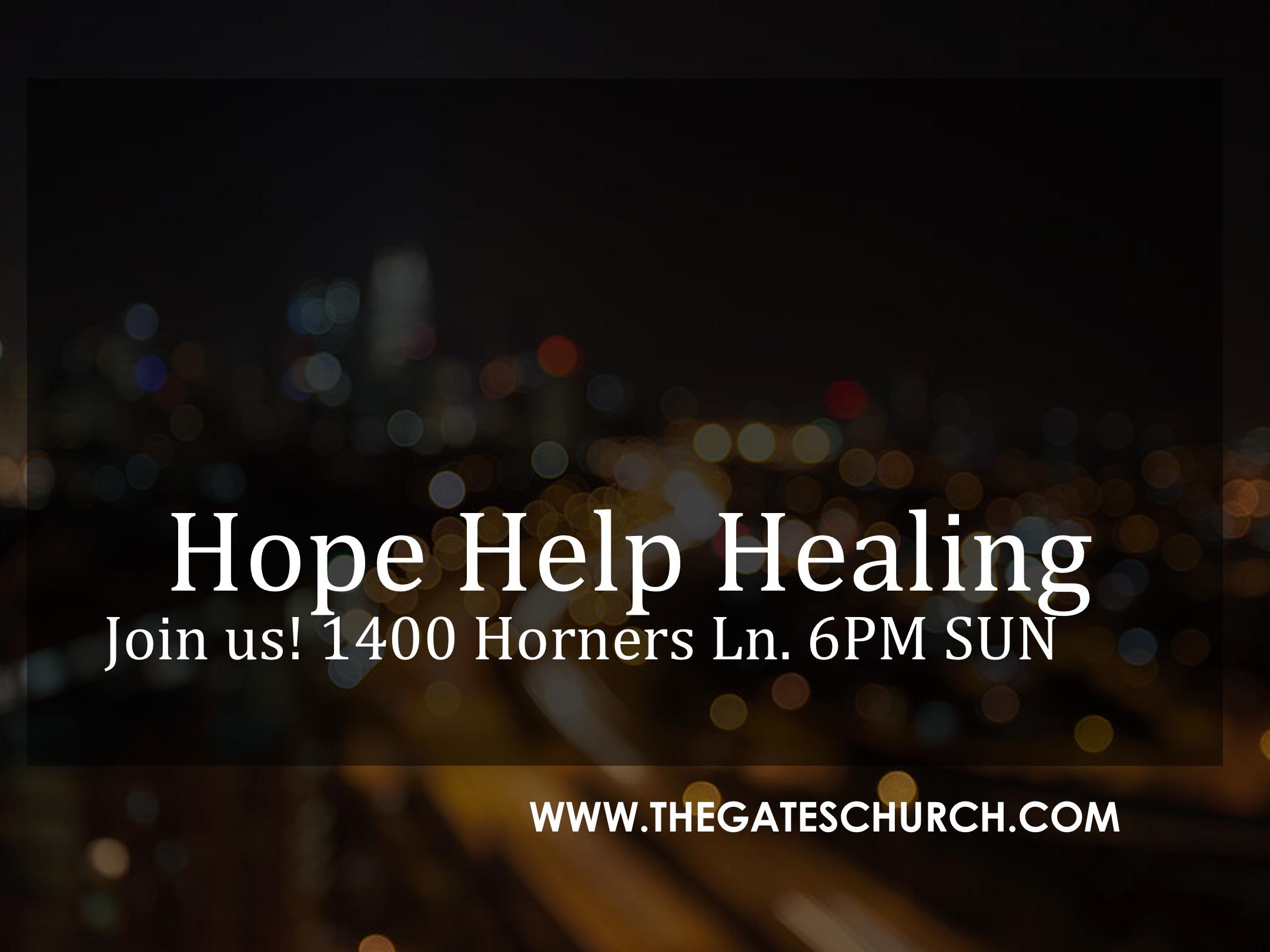 hope help and healing